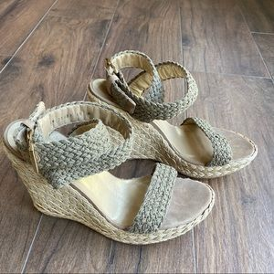 Stuart Weitzman Alex Wedge Sandals